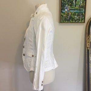J. Crew Jackets & Coats - JCrew White Linen Blazer XS